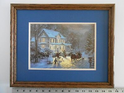 Thomas Kinkade HOME FOR THE HOLIDAYS framed 11X14 m