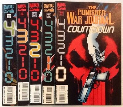 Punisher Countdown 4-0 Complete Set - 103 104 Journal 79 80 Zone 41 VF/NM Comics