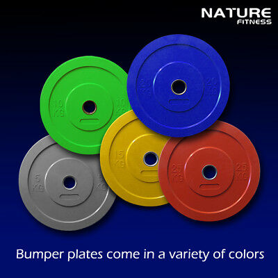 Olympic Rubber Bumper Plate Sold For Pair Home Gym Exercise Weight Lifting