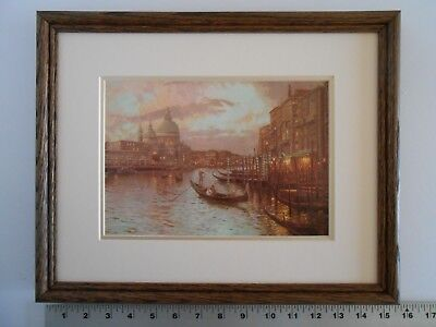 Thomas Kinkade VENICE, SUNSET ON THE GRAND CANAL framed 11X14 m
