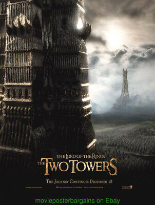 LORD OF THE RINGS The Two Towers MOVIE POSTER Original DS 27x40 Tower Advance