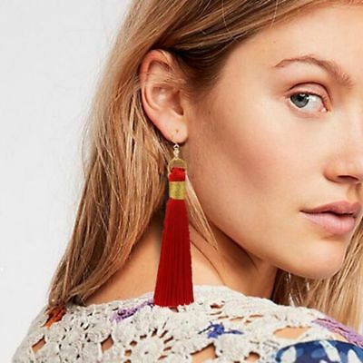 Fashion Gold Plated Tassle Earrings 12 Colours  Holiday Gift Xmas Women Girls