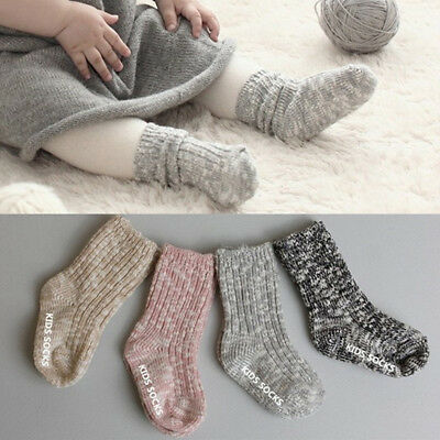 1Pair Newborn Wool Sock Thicken Soft Warm Floor Socks Baby Kids Winter Supply