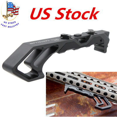 For Keymod/&M-LOK Compatible Mount BK Metal FOREGRIP Angled Fore Grip MOD Rail US