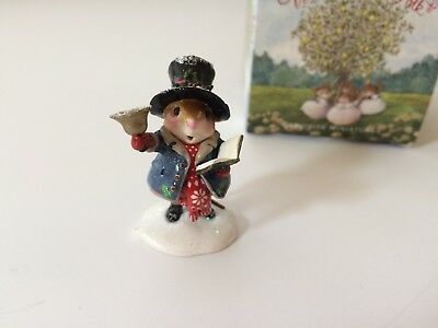 Wee Forest Folk Christmas M-420 POPPA CAROLER 🎩 - LTD Store SPECIAL - MINT
