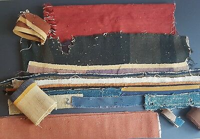 Large Lot of 45 Antique Tapestry Borders Solid Colors French