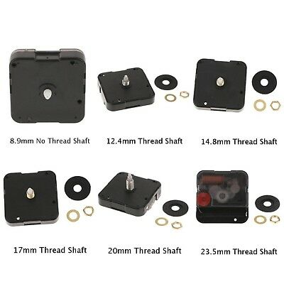 Quartz Wall Clock Movement Black Hands Motor Mechanism Replacement Parts Kit