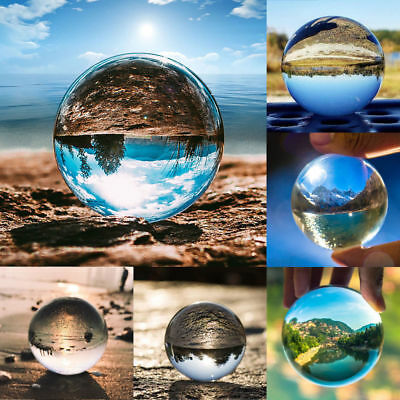 40-120mm Clear Glass Crystal Ball Healing Sphere Photography Photo Props Gifts
