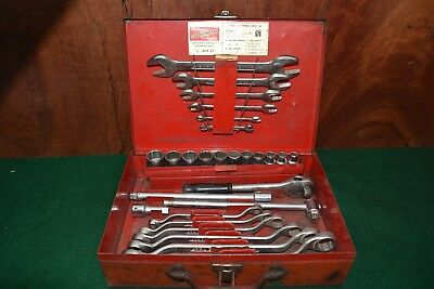 Vintage Siddons Sidchrome Embossed 27 piece AFK 27 Made In Australia Old Tool