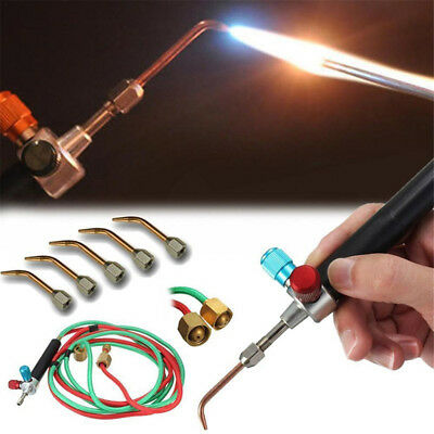 Hot Jewelry Jewelers Micro Mini Gas Little Torch Welding Soldering + 5 Tips Kit