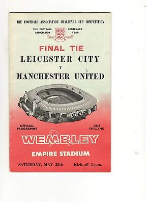 Leicester City v Man Utd 1963 FA Cup Final