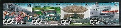 Lot 5187 - Malaysia 1999 Sepang Grand Prix used se-tenant strip of 4