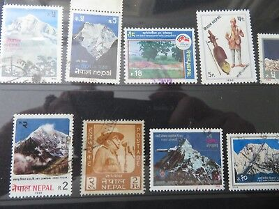 Nepal, Postage Stamps assorted in good used condition 20