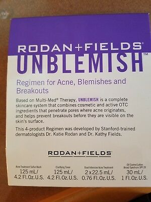 Rodan and Fields UNBLEMISH Regimen for Acne NEW n SEALED
