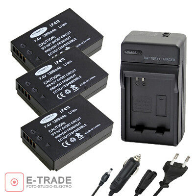 FORMAX Camera Li-on Battery CHARGER LP-E12 LPE12 for Canon EOS M 100D