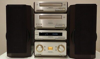 Technics SC-HD550 HiFi Component System CD,Tape Tuner Amp + Free Speakers