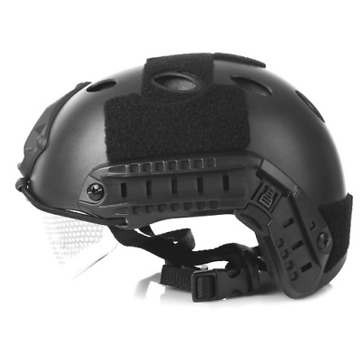 Military Tactical Helmet Outdoor Helmet CS Airsoft Paintball (schwarz)