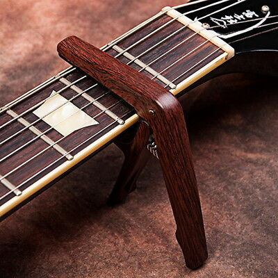 Quick Change Grain Clamp Key Capo Wood For Acoustic Electric Guitar Bass JCP01