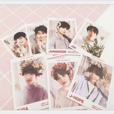 Kpop BTS Polaroid Photocards Jungkook Love Yourself Paper Photo Cards Poster