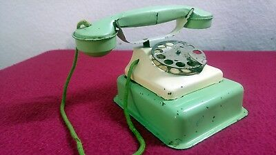 "altes Blech Spielzeug "" GERMANY "" Telefon um 1940 vintage tin toy phone 40th"