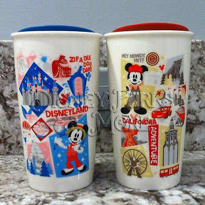 Starbucks Disneyland & Disney California Adventure Attractions Tumbler Mug Set