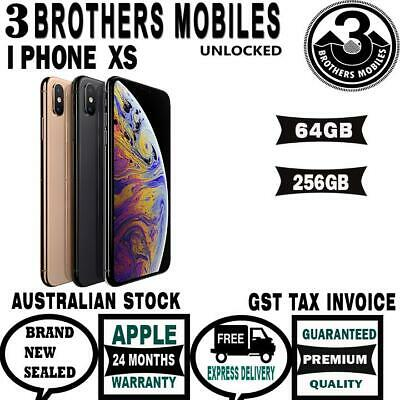 [Au Stock] Apple Iphone Ten 10 Xs 256Gb Space Grey Silver Gold Unlock Gst Tax In