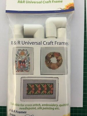 "R&R Universal Craft Frame - 9"" x 9"" plastic for quilting, cross-stitch and more"