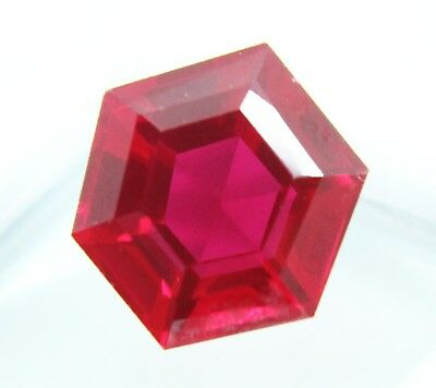 10.45  CT Natural Mozambique Blood Red Ruby Manik Hexagon Cut Gem Ggl Certified