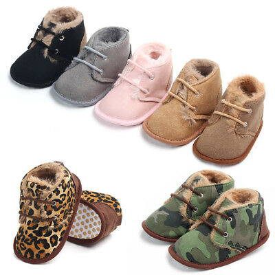 Toddler Baby Shoes Winter Boots Newborn Infant Girl Boy Soft Crib Kids Prewalker