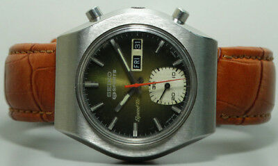 Vintage Seiko Chronograph Automatic Day Date Mens Watch Old Used s976 Antique