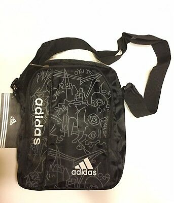 adidas Small Shoulder Bag For Men Black  New with tags