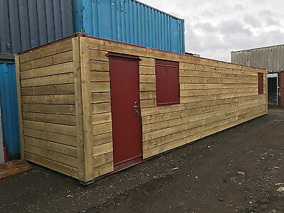 40ft x 8ft Cladded Shipping Container - Leeds