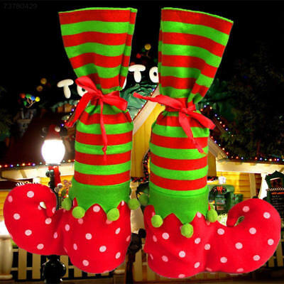 B975 Christmas Candy Bag Elf Boots Treat Pocket Party Gift Bag Stocking Filler