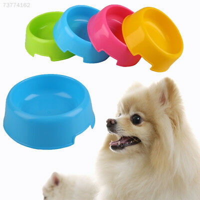 5CF7 Pet Cat Dog Lovely Plastic Feed Drink Water Dish Food Bowl Travel Feeder