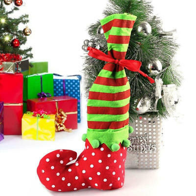 Christmas Candy Bag Elf Boots Shoes Home Gift Bag Decor New Year Supplies Sack