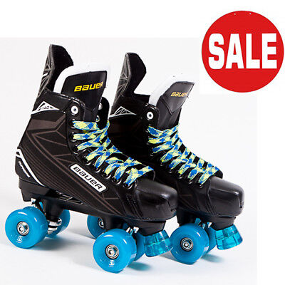 Bauer Quad Roller Skate - Supreme S140 Conversion SFR Slick Wheels