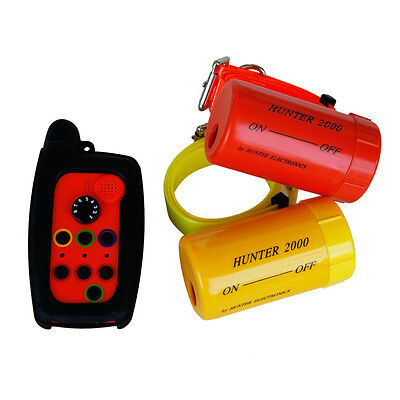 Remote Dog Beeper Collar HUNTER 2000 FOR 2 DOGS