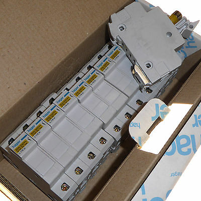 12 x 20 amp consumer unit carrier with 20A fuses DIN rail Hager L116 BS1361 new