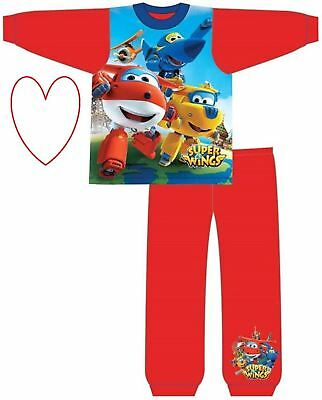 Childrens Boys Superwings Pjs Pyjamas Set Pajamas Sleepwear Gift