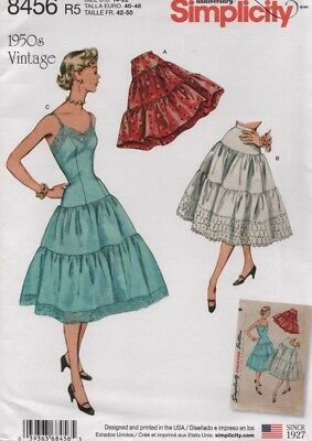 Simplicity Sewing Pattern 8456 Misses Vintage Petticoats Size 4-12
