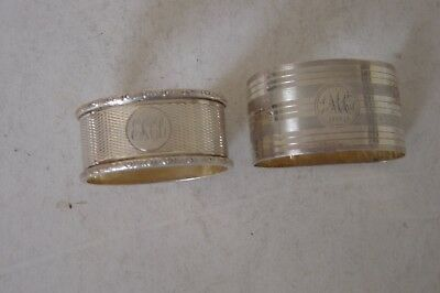 2 X Solid Silver Napkin Rings,use Or Scrap