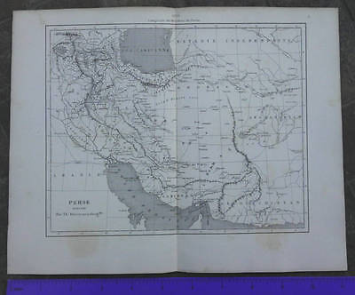 Antique Persia Map Iran 1863 French