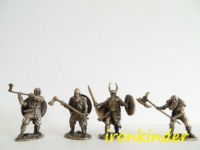 Warriors of the North Vikings bronze metall collectible miniature figure 40mm