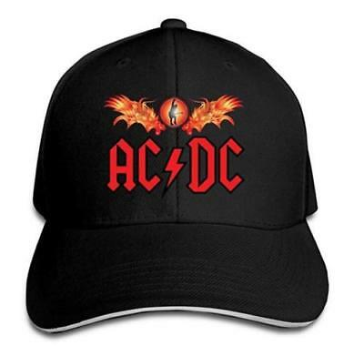 BestSeller Unisex Red AC/DC Peaked Adjustable Baseball Caps Hats