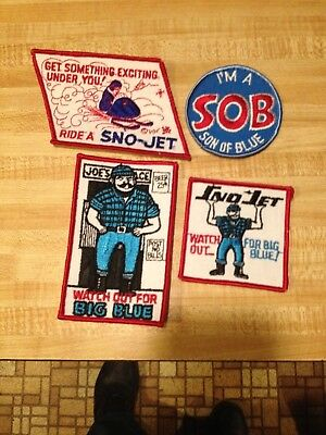 SNO JET snowmobile sew on patch 1970's vintage new old stock
