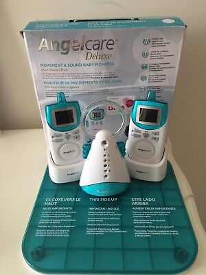 Angelcare Deluxe Movement And Sound Baby Monitor AC401 with 2 Parent Units