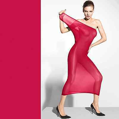 Wolford Fatal Sheer Dress • XS • china red ... scheint sexy die Haut durch