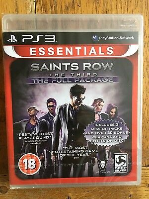 Saints Row The Third Full Package Essentials Edition - PS3 UK Factory Sealed!