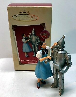 Hallmark 2003 Dorothy and Tin Man Wizard of Oz Keepsake Ornament