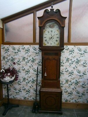 Victorian 8 Day Longcase  Grandfather Clock ,inlayed,mahoghany ,oak,boddington
